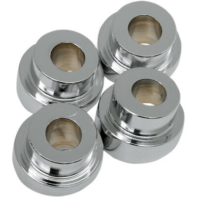 LA Choppers Chrome 5° Angled Riser Bushing Kit for Most Harley Softail Dyna XL