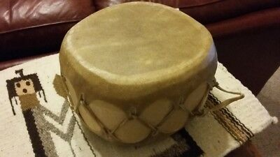 Native American Indian double sided spin Drum w Rawhide