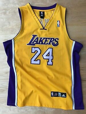 3f2a4778def Adidas Authentic KOBE BRYANT #24 Los Angeles LA Lakers Jersey Mens 52 2XL  XXL