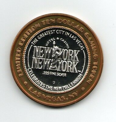 Babe Ruth New York .999 Fine Silver $10 Casino Gaming Token  Limited Edition
