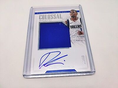 2017-18 National Treasures Colossal Jersey Rookie Auto DENNIS SMITH JR #d /99!!