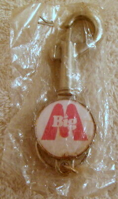 VINTAGE 1980's BIG M (STRAWBERRY) CLIP ON KEY RING / BOTTLE OPENER ORIGINAL BAG