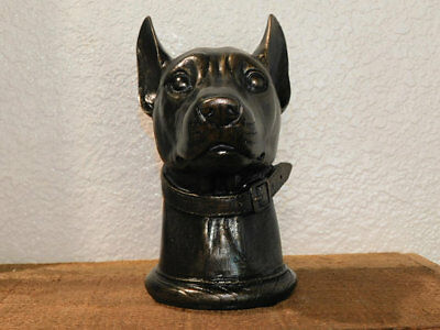 Doberman Bust, Dog Bust, Doberman Pinscher, Doberman Decor, Office, new, painted