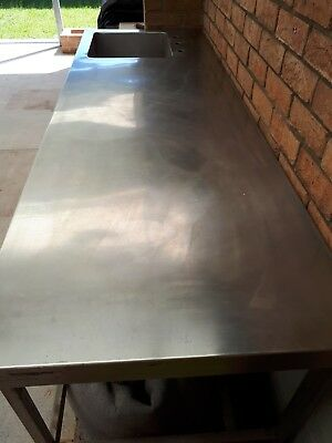 Commercial Stainless Steel Kitchen Bench with Sink