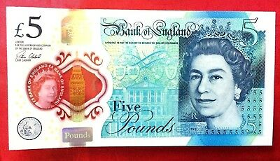 £5 Bank Note Uk England 2016 Banknote Real Note Unc Printed 2015