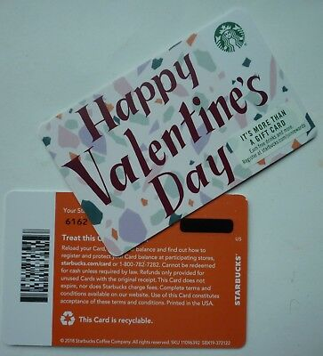 Starbucks Recyclable Card 2019 Happy Valentine's Day 2018 #6162 Mint No Value