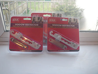 Window restrictors, 3 in a pack, NEW