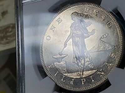 1903 Peso U.S.-Philippines,KM# 168.,NGC Certified Proof 61.Wings Stickered