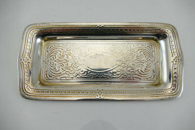 Fine Sterling Silver Tiffany & Co. Makers Pin Tray  Acid Etched Design     GUC