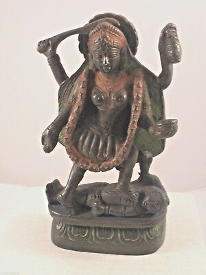 "Kali Statue - 6"" - Aluminum w Antiqued Finish"