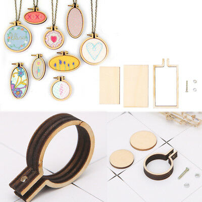 Mini Wooden Cross Stitch Machine Embroidery Hoop Ring Bamboo Sewing Hand Crafts