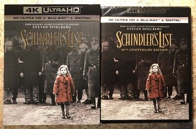 Schindler's List 25th Anniversary 4K Ultra HD + Blu-ray NEW Sealed w/ slipcover