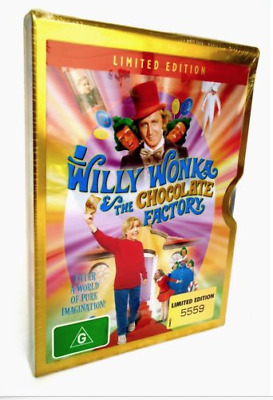 Willy Wonka & The Chocolate Factory.Ltd ed NUMBERED Metal Case.New & sealed R4