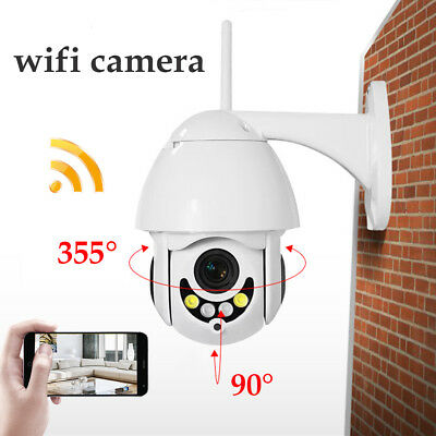 1080P 2MP Full Color IP Camera PTZ Outdoor Waterproof Wireless Wifi 5X Zoom US