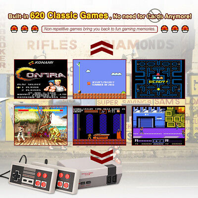 White Mini Retro Classic Family TV Game Console Built-in 620Games 8Bit AV NTSC