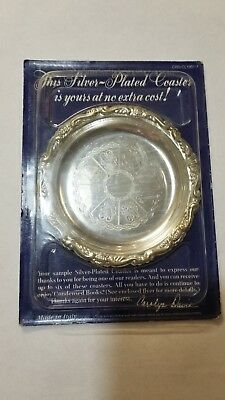vtg Silver Plated Coastermade in Italy