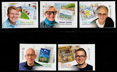 Australia Legends 2019 Set of five Self-adhesive Stamps from Booklets MNH