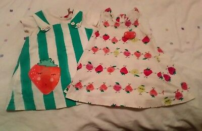 Joules baby girl 6-9 months two summer dresses