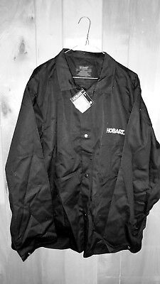 HOBART Welding Jacket Shirt Flame Resistant - Mens Size XL Cotton Black L/S NWT!