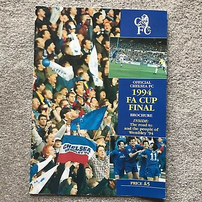 Official Chelsea FC 1994 FA Cup Final Brochure (v Man United)