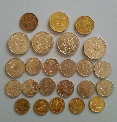 Singapore Coins. Mixed Bulk Lot of Asia Singapore Collectable Coins.
