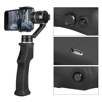 Black 3-Achsen Handheld Gimbal Stabilisator Stabilizer For iphone Android Handy