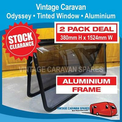 Caravan Window Odyssey Single Windout Tinted ( 2 PACK ) 380mm x 1524mm 041333