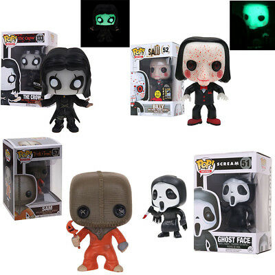 Funko Pop The Crow Eric Draven| Trick'r Treat Sam| Saw Billy| Ghost Face Figure