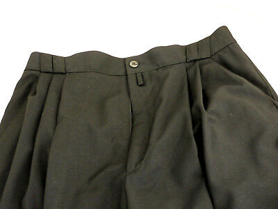 GIANNI VERSACE - Black Trousers - 100% Wool Light-Weight - size 48
