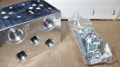 NEW Daman Products AD03P022S Aluminum Directional Valve Manifold
