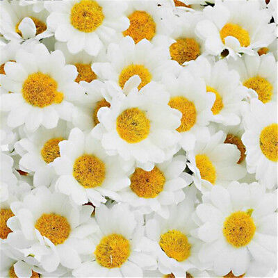 100Pcs/set Artificial Gerbera Daisy Flower Heads for Wedding Party Decoration