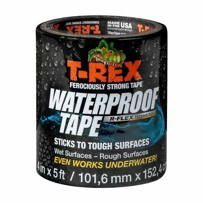T-Rex R-Flex Ferociously Strong Waterproof Adhesion Tape Black 4in x 5ft