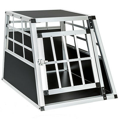 Cage box caisse de transport chien mobile aluminium single