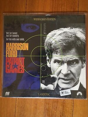 Laserdisc Patriot Games Harrison Ford Widescreeen