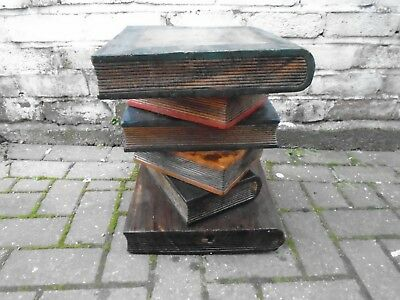wooden stacked books /  antique furniture / coffee table