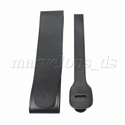 Adjustable Black PU Leather Thick Strap for Electric Guitar Bass Accessories