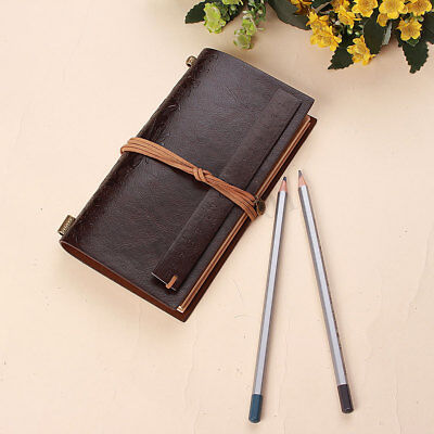 Vintage Classic Retro Leather Journal Travel Notebook Blank Diary Ruler Bookmark