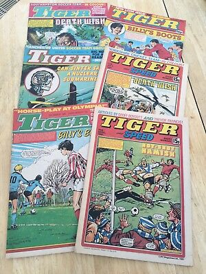 Vintage Tiger and Speed Comics And Tiger Comics 6 Issues (1981 And 1983)