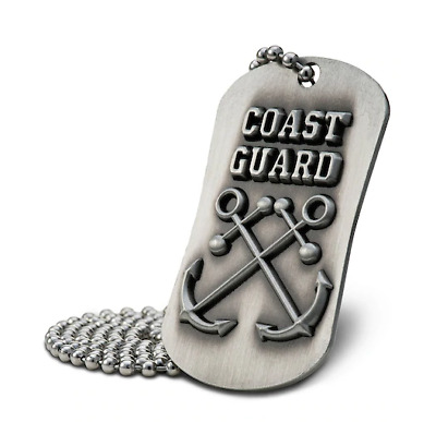 Coast Guard Antique Finish Dog Tag Necklace Hebrews 6:19 with Three Prayer Cards