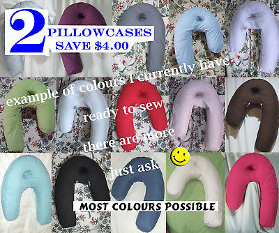 2 Ask YourCOLOUR Pillowcases for Side Sleeper Pro, Side Sleeping Neck Back U J L