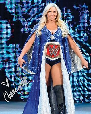 CHARLOTTE #3 (WWE) - 10x8 PRE PRINTED LAB QUALITY PHOTO (SIGNED) (REPRINT)