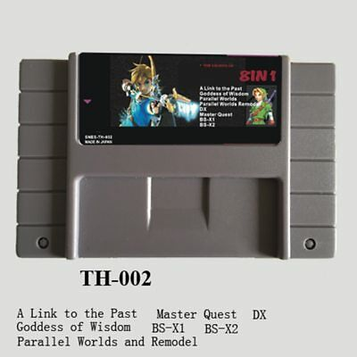 8 in 1 THE LEGEND OF ZELDA For SNES Goddess Wisdom Ancient Stone Tablets Master