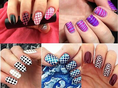 Women Nail Art Vinyl Manicure Stencil Guide Tip Sticker Hollow DIY 24 Sheets Hot