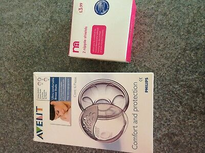 Phillips Avent Breast Shells and Mothercare nipple shields