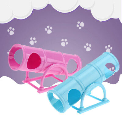 Plastic Seesaw Cage House Hide Play Small Pet Tunnel Toys For Hamster Rat Mouse~