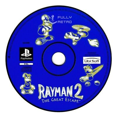 RAYMAN 2: THE GREAT ESCAPE (PS1 Game) Playstation D