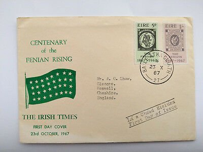 Ireland October 1967 First Day Cover CENTENARY OF FENIAN RISING The Irish Times