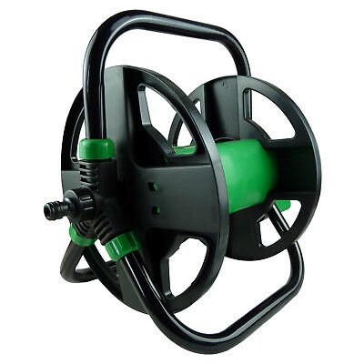 30m Portable Hose Reel Garden Compact Watering Water Pipe Trolley Cart Holder