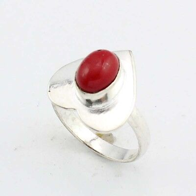 Coral Tibetan Jewelry Silver Plated Ring  S8467