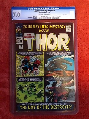 JOURNEY INTO MYSTERY #119 CGC 7.0 Soft Case Silver Age Marvel Thor 2nd Destroyer